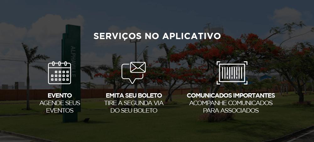 serviços no app